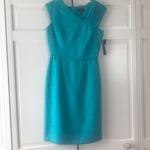Tahari teal dress size 4